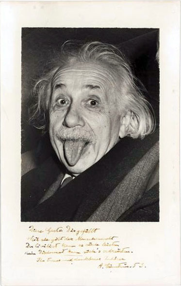 Einstein photo1 La photo Albert Einstein tirant la langue n'est pas truquée ?