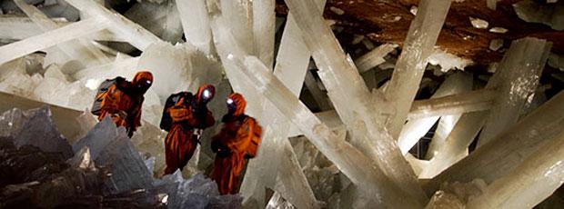 Il existe une cave de cristal ?