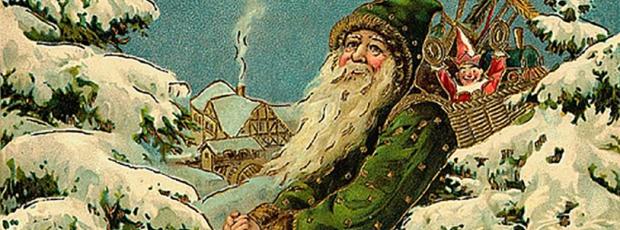 Le Père Noël est de couleur vert ?