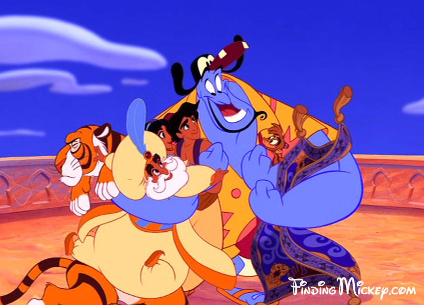 Aladdin Disney Personnages disney cache des personnages disney dans ses films ? | savez-vous
