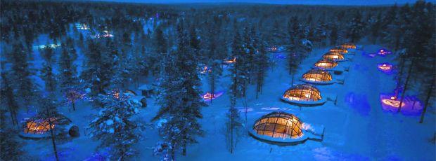 Vous pouvez dormir dans un igloo futuriste en Laponie ?